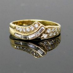14 kt gold cocktail ring with 0.52 ct Diamonds VSI/H – Ring size: 18.0 / 57 / US 7.8