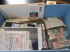 World – Sorting batch incl. France on cards, in bags and on pages