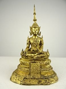 Bronze Buddha in Rattanakhosin style – Thailand – first half of the 20th century