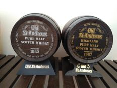 2 decanters - Old St Andrews barrels