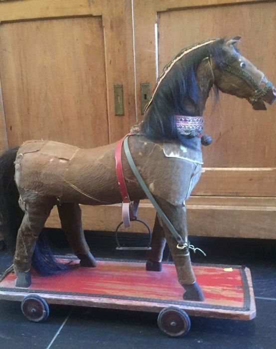 antique horse for decoration or to play with