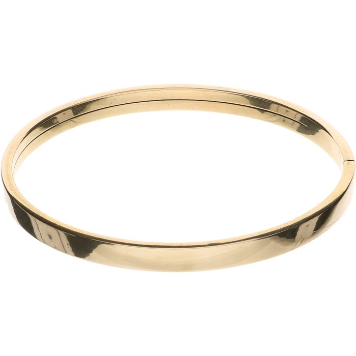 14 kt Yellow gold bangle – Inner diameter: 6.1 cm.