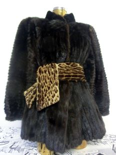 Saga mink - mink jacket in black