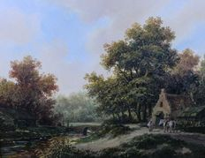 J Borghout  (20th century) -    Landschap