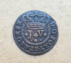 Portugal – 1 and 1/2 Real 1714 – D. João V . Superior condition