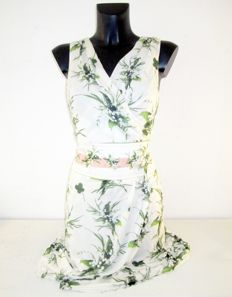 Roberto Cavalli - nice white designer summer dress with splendid flowers.