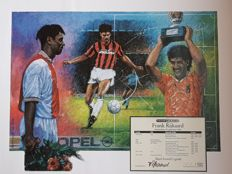 EK 88 Frank Rijkaard - Frame of Fame - Great lithograph hand signed limited Edition 500 pieces equipped with numbered + COA