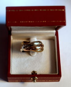 Cartier Trinity ring-Yellow, rose and white gold, 18K, 12,7g, size 56(17,8mm)