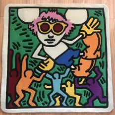 Keith Haring (after) - Andy Mouse (Colors) Rug