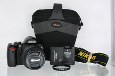Nikon D60 with Nikkor AF 18-55mm f3.5-5.6 GII ED, B+W 010 1x F-Pro filter and Lowepro bag