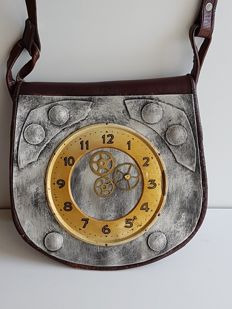 Steampunk Leather Shoulder Bag
