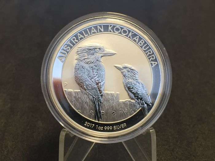 Australia - Perth Mint - 1 silver dollar, 2017 - uncirculated - 1 oz 999 silver coin, Kookaburra