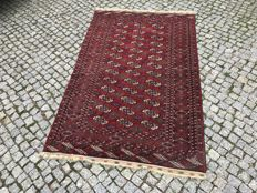 Old TURKMEN RUG Hand knotted  185X113CM cm