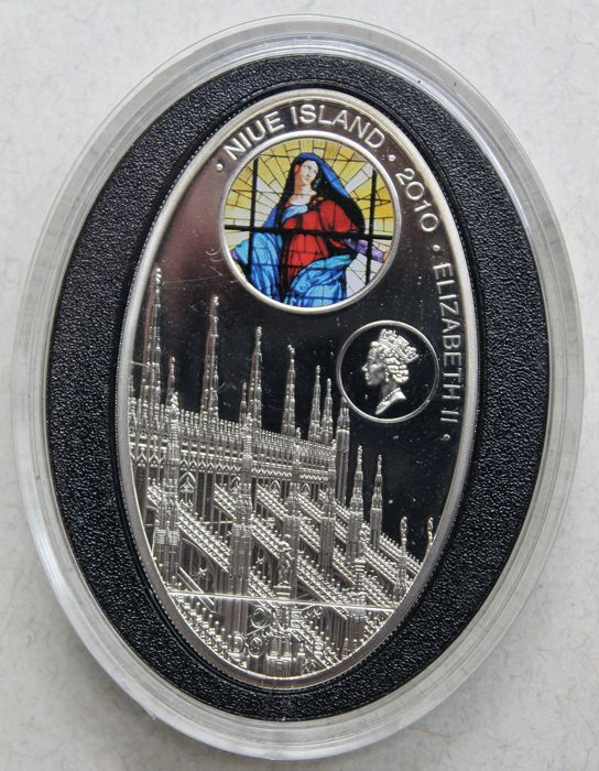 Niue - 1 dollar 2010 'Gothic Cathedrals - Milan Cathedral' with certificate - silver