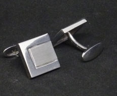 Men's Cufflinks - 14kt white gold