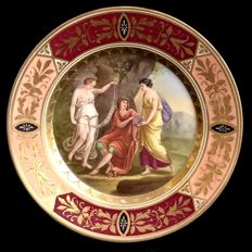 "Royal Vienna- style  - cabinet plate , decorated with ""Callipso """