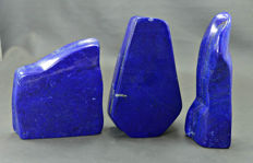 Top Quality self standing deep blue lapis lazuli polished  tumbles lot - 2175 gm (3)