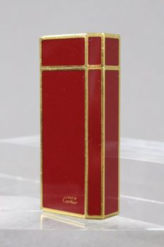 Cartier lighter - Chinese Lacquer / Gold plated