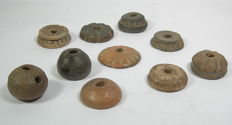 10 spindle whorls - ceramic - Pre-Spanish period - (10)