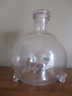 Glass fly-catcher bottle - France - ca. 1900