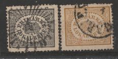 Sweden 1856/1862 – Local mail, black and brown
