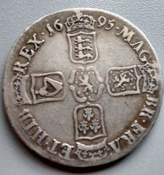 United Kingdom - Crown 1695 William III - silver