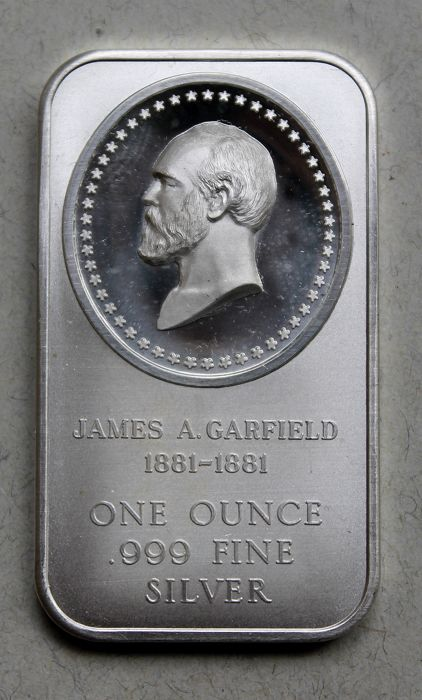 United State - 1 ounce 1976 ingot 'James Abram Garfield' - silver