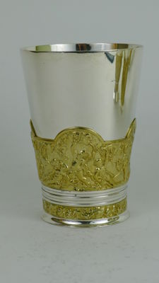 19th Century Silver and Gold plated Lebraty mug