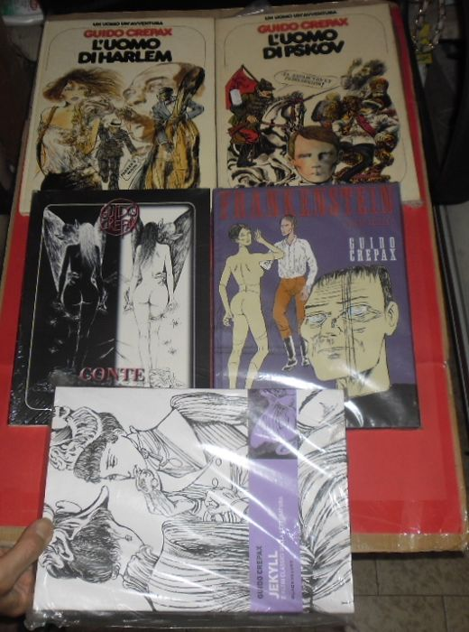 Crepax, Guido - 5x Italian erotic/horror comic volumes (1989-2002)