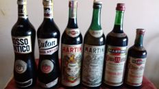 6 bottles of Italian Vermouth - 2x Rosso Antico, different labels & 4x Martini