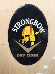 Laminated sign - Strongbow Dry Cider - Late 1990s