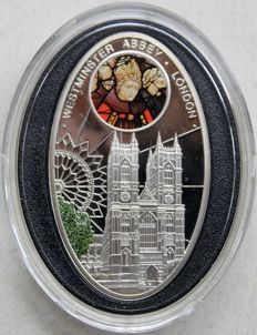 Niue - 1 dollar 2010 'Westminster Abbey London' - silver