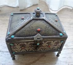 Persian chest jewellery box 1930s