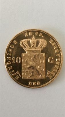 The Netherlands – 10 guilder coin 1875 Willem III – gold.