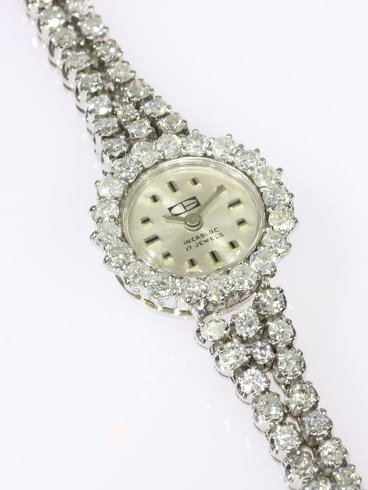 Stunning diamond gold ladies' wrist watch - anno 1970