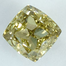 Diamant - 0.79 ct - Natural Greenish Yellow