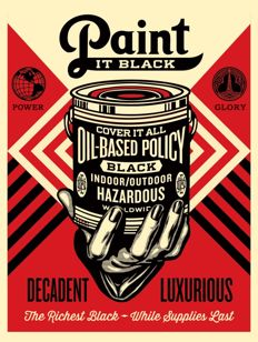 Shepard Fairey (OBEY) - Paint It Black (Brush)