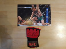 Conor McGregor glove + photo, both signed