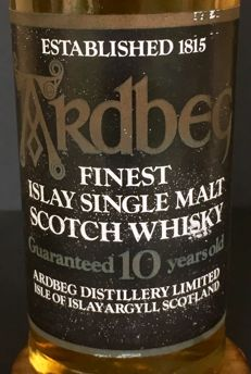 Ardbeg 10 years old - 80s bottling - OB