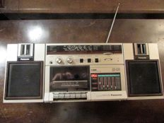Portable Panasonic Radio music-cassette with equaliser