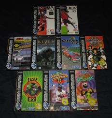 Lot of 9 Sega Saturn Games including rare game Riven  and more