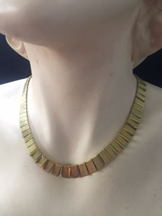 14 kt Yellow gold vintage necklace or choker.