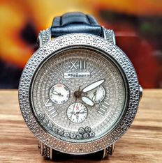 Jo Jino 0.50 Carat Genuine floating Diamond Set - Men's Timepiece