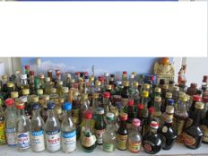 Collection of 165 vintage liquer miniaturebottles period 1950- 1990