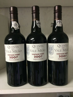 2007 Vintage Port Quinta do Vale Meao - 3 bottles