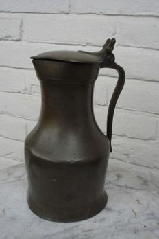 Large pewter acorn jug -France-late 18th/early 19th century