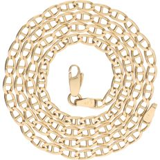 14 kt – Yellow gold curb link necklace – Length: 47.9 cm