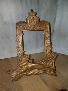 J. Duquet - bronze picture/mirror frame - France - ca. 1930