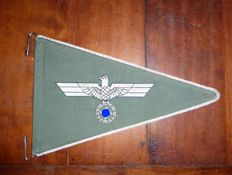 Car-pennant or a standard for a service car of a senior officer. - Ww2