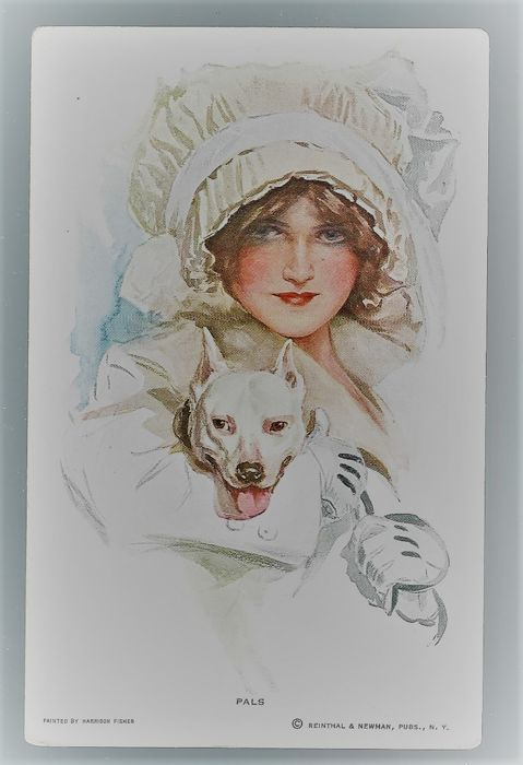 lot of 30 superb postcards, young woman with hat, all illustrator signed and well-known like boileau-barber-butcher-powell-belwing ext.......